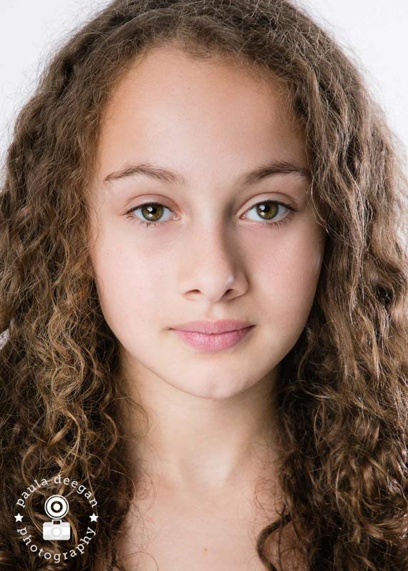 child actor headshot epsom studio | Paula Deegan Photography