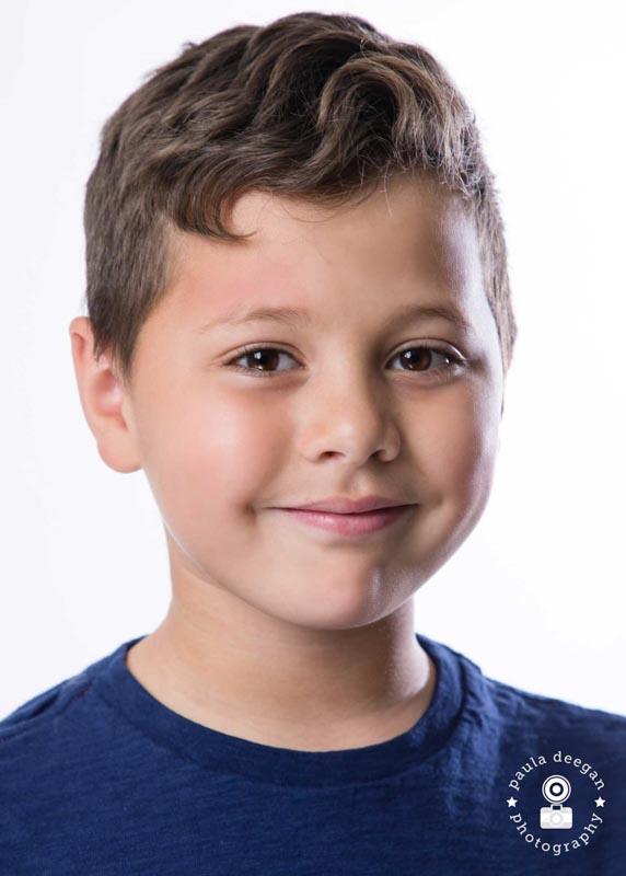 child actor headshot surrey   Paula Deegan Photography